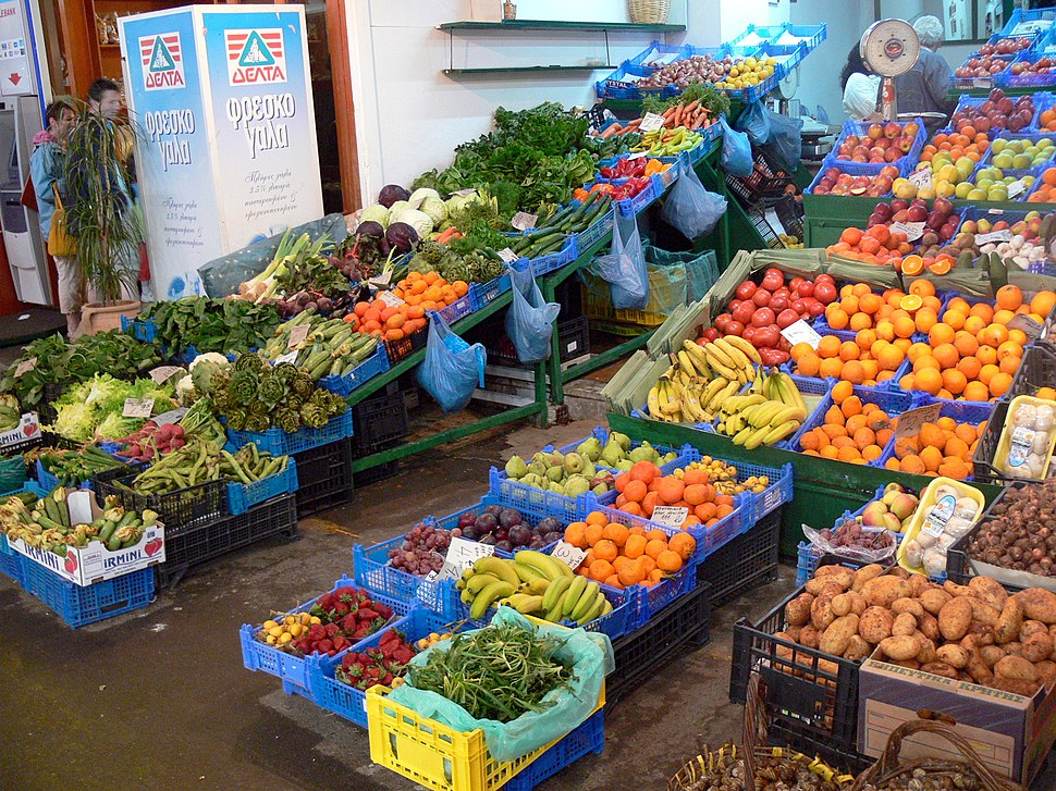 Chania - Markthalle - Obststand