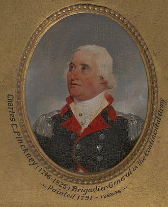 Charles Cotesworth Pinckney - 1791 miniature portrait by John Trumbull