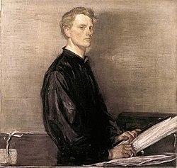 Charles hazlewood shannon   self portrait
