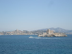 Château d'If - The Château d'If with Marseille in the background.