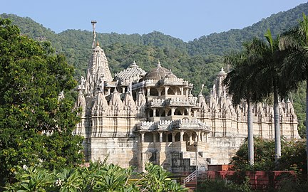 Chaumukha Jain temple at Ranakpur in Aravalli range near Udaipur Rajasthan India