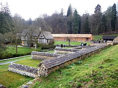 Chedworth Roman Villa 2012 - View from northeast.jpg