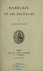 Henri-Émile Chevalier: Rabelais et ses éditeurs