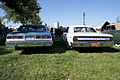 Chevrolets Impala 1979 Sport Coupe and Malibu 1965 SS Convertible Rears Lake Mirror Cassic 16Oct2010 (14874224881).jpg