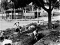 Children digging air raid trenches at Ascot State School, Brisbane, 1942.jpg