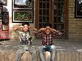 Children in Ribat-i-Abbasi of Nishapur (Hossein - Ali - Fatemeh - Hengameh and another girl - probably Afghani) 08.jpg