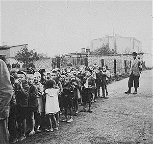 Évian Conference - Jewish children rounded up for deportation to Chelmno extermination camp