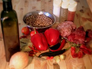 Chili con carne - Ingredients for chili con carne.