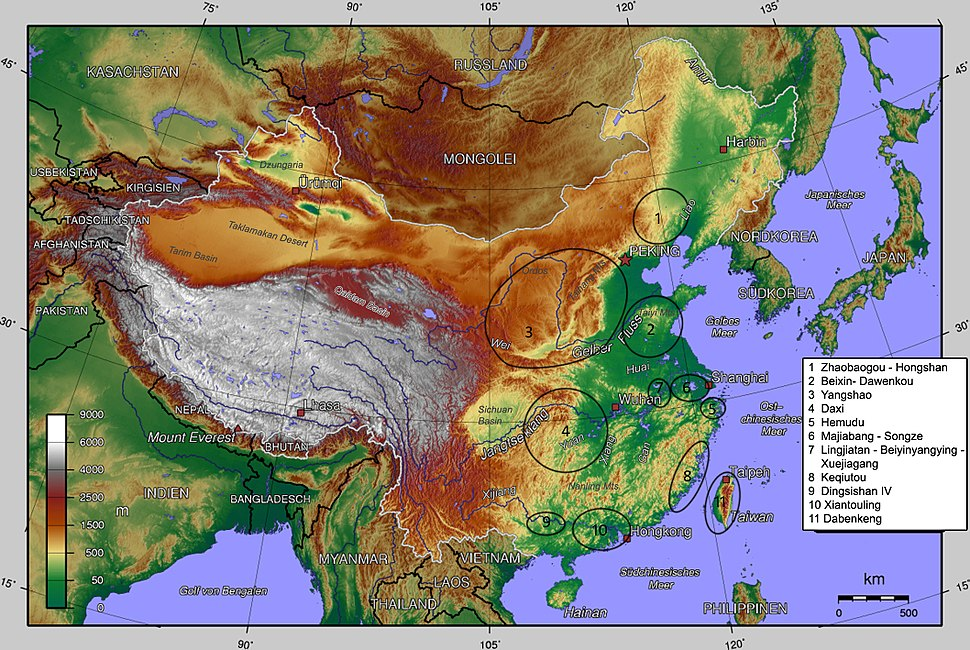 China, middle Neolithic cultures