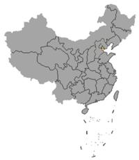 Localización de Tianjin en el mapa de China