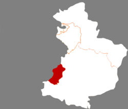 Location in Yingkou