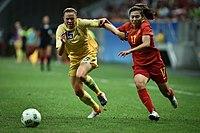 China x Suécia - Futebol feminino - Olimpíada Rio 2016 (28778656992).jpg