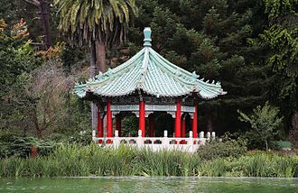 Strawberry Hill (San Francisco) - Image: Chinese Pavillion at Stow Lake in the Golden Gate Park (TK1)