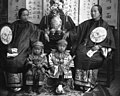 Chinese mother, daughter and children in fine costume (CHS-2138) (cropped).jpg