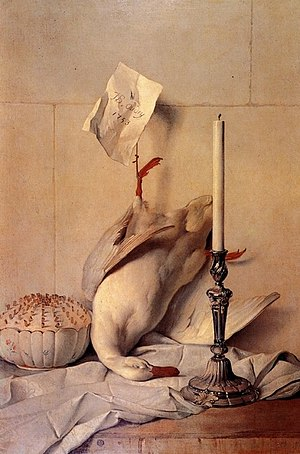 Houghton Hall - Jean-Baptiste Oudry's The White Duck, which was stolen from Houghton Hall in 1990