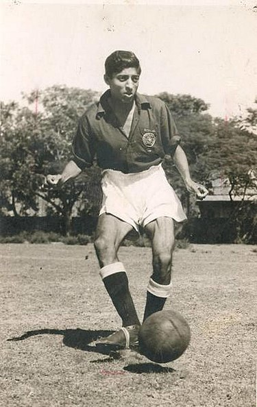 Mohun Bagan's all-time top Indian goalscorer, Chuni Goswami Chuni Goswami 1959.jpg