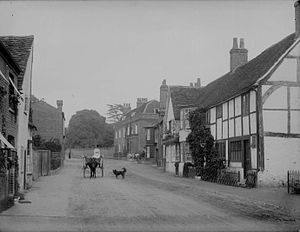 Wargrave - Church Street, c. 1888 by Henry Taunt