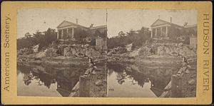 Cold Spring, New York - Stereoscopic view of Church of Our Lady