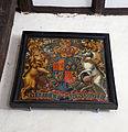 Church of St Andrew, Willingale, Essex, England - interior coat of arms.JPG