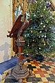 Church of St John, Finchingfield Essex England - Eagle lectern and Christmas tree.jpg