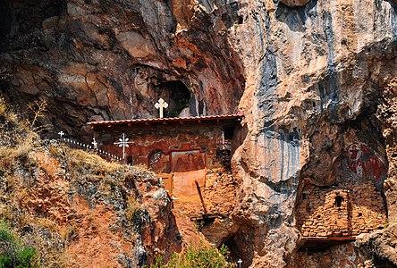 Old cave Church of Archangel Michael in Radožda, Macedonia