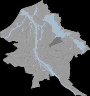 Čiekurkalns - Image: Ciekurkalns karte
