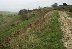 Cissbury Ring - Rampart of Cissbury Ring