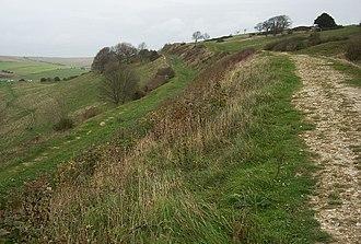 Cissbury Ring - Rampart of Cissbury Ring
