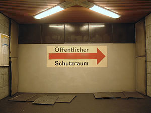 Pankstraße (Berlin U-Bahn) - Main entrance of the station Pankstraße (Berlin U-Bahn) on the U8 (Berlin U-Bahn) configured as a fallout shelter