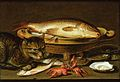 Clara Peeters - A still life with carp in a ceramic colander etc.jpg
