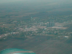 Aerial view of Clarkfield from the southwest
