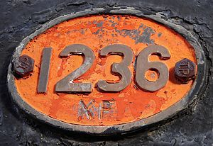 South African type XF tender - Type XF tender plate, SAR Class 8F