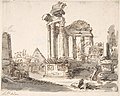 Classical Landscape with Ruins (recto); Two men in Roman military dress (verso) MET DP800719.jpg