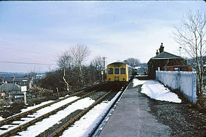 Clayton West railway station - Clayton West railway station in 1979