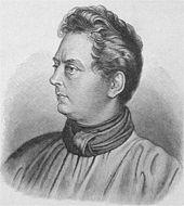 Clemens Brentano (Bild aus einem Lexikon von 1906; Ausschnitt aus einer Radierung von Ludwig Emil Grimm, 1837) (Quelle: Wikimedia)