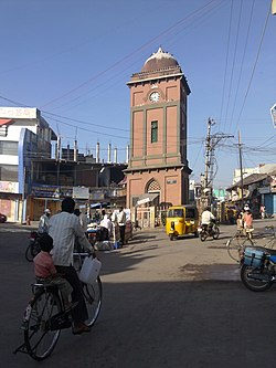 Clock tower in jagtial.jpg