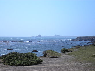 Rancho Piedra Blanca - Pacific coast on the old Rancho Piedra Blanca, with Piedras Blancas Light Station in background.
