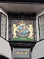Coat of Arms, Mol's Coffee House, Exeter - geograph.org.uk - 1066165.jpg
