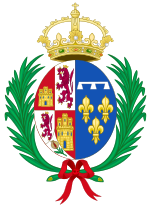Coat of Arms of Marie Louise of Orléans, Queen Consort of Spain.svg