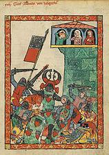 Count Albrecht II is killed in the battle of Leiningen