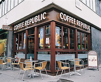 Coffee Republic - Old style bar on George Street, London.