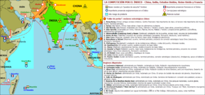 String of Pearls (Indian Ocean) - Chinese String of Pearls map.