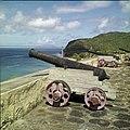 Collectie Nationaal Museum van Wereldculturen TM-20030080 Kanonnen opgesteld op de binnenplaats van Fort Oranje Sint Eustatius Boy Lawson (Fotograaf).jpg