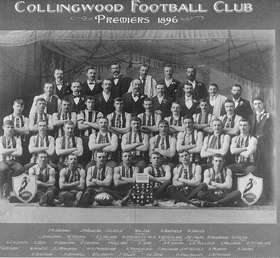 The Collingwood team that won the VFA premiership in 1896. Collingwoodfc.JPG