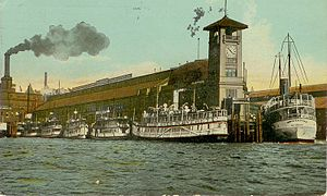 Colman Dock - Colman Dock with mosquito fleet ships in 1912