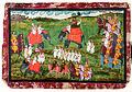 Colonel James Tod and Guru Gyanchandra riding elephants near Udaipur (6124557643).jpg