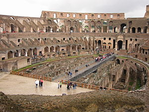 Amphitheatre - Interior of the Colosseum
