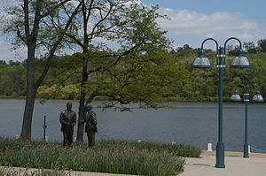 Columbia, Maryland - The lakefront in Downtown Columbia sits upon Lake Kittamaqundi