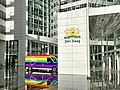 Coming-Out Day 2020 in The Hague - Postal car with rainbow colors at City Hall The Hague.jpg