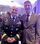 Commander of US Army Europe, Christopher G. Cavoli, with Grant Schreiber.jpg